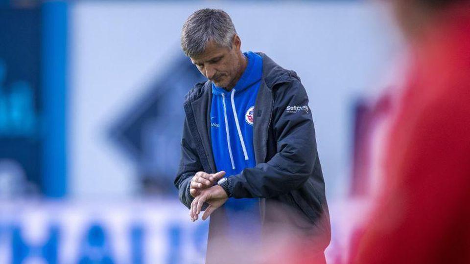 Jens Härtel, der Chef-Trainer von Hansa Rostock. Foto: Jens Büttner/dpa-Zentralbild/ZB/Archivbild