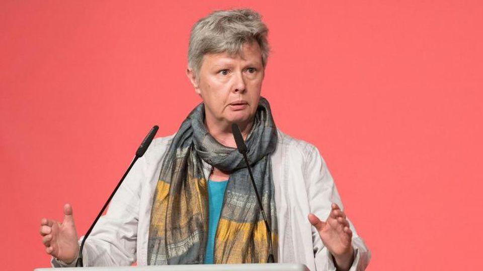 Katina Schubert (Die Linke), Berliner Landesvorsitzende. Foto: Jörg Carstensen/dpa/Archivbild
