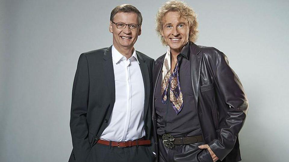 Die Show-Giganten Günther Jauch und Thomas Gottschalk wieder vereint