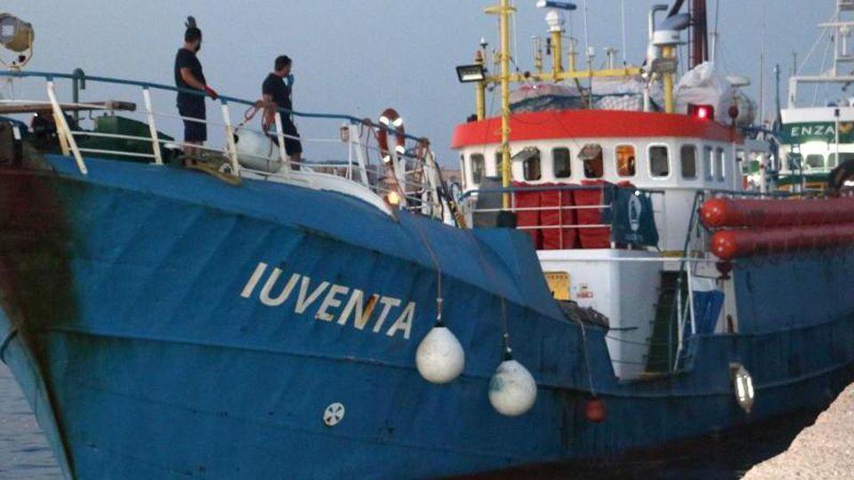 """Rettungsschiff """"Iuventa"""".Foto: Elio Desiderio/ANSA/AP/Archivbild"""