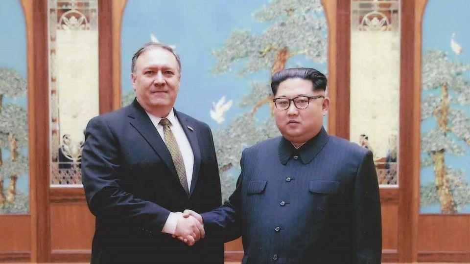 Mike Pompeo und Kim Jong Un