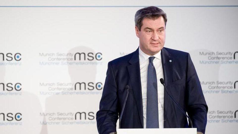 Markus Söder (CSU) spricht im Landtag. Foto: Sven Hoppe/Archiv