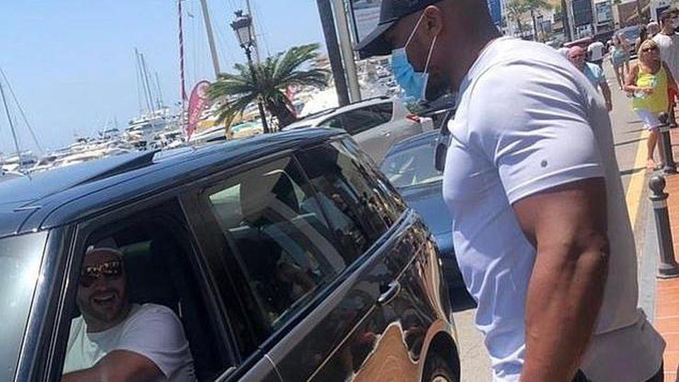 Tyson Fury und Anthony Joshua im Urlaub auf Marbella
