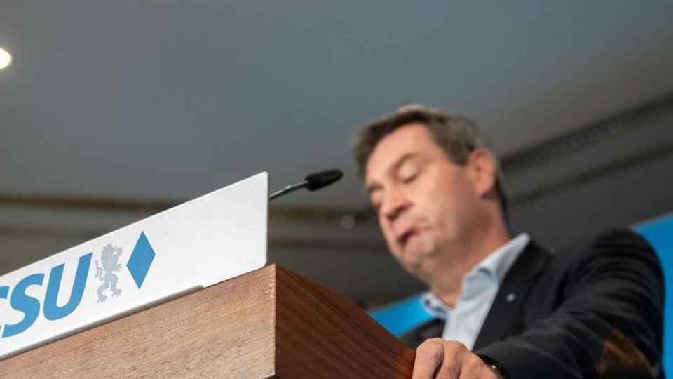 Markus Söder (CSU), Ministerpräsident von Bayern, nimmt an einer Abschlusspressekonferenz teil. Foto: Lino Mirgeler/Archivbild