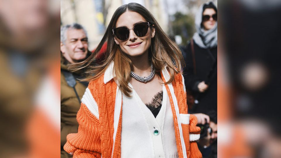 Mode-Influencerin Olivia Palermo im farbenfrohen Layering-Look