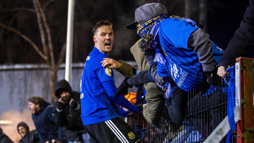 Fußball, DFB Pokal, Saison 2019/2020, Achtelfinale, 1. FC Saarbrücken - Karlsruher SC am 05.02.2020 im Hermann-Neuberge
