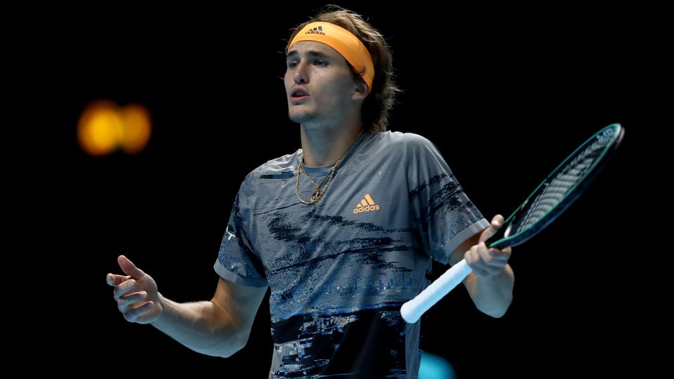 16th November 2019; 02 Arena. London, England; Nitto ATP, Tennis Herren Tennis Finals; A frustrated Alexander Zverev (Ge