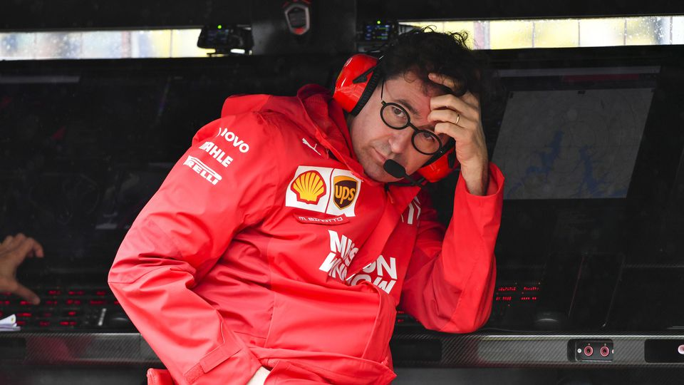 2019 Brazilian GP SAO PAULO, BRAZIL - NOVEMBER 15: Mattia Binotto, Team Principal Ferrari during the 2019 Formula One Br
