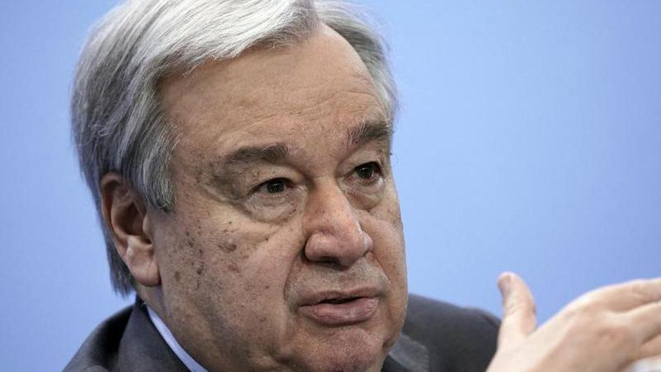 Antonio Guterres, Generalsekretär der Vereinten Nationen, rief die Menschen weltweit auf, sich weiter an die Abstands- und Hygieneregeln zu halten sowie Masken anzuziehen. Foto: Michael Kappeler/dpa/Pool/dpa