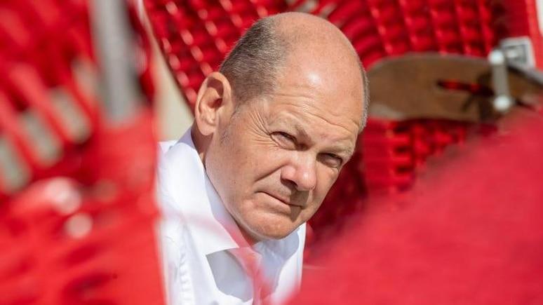 Olaf Scholz, Kanzlerkandidat und Spitzenkandidat der SPD. Foto: Stefan Sauer/dpa