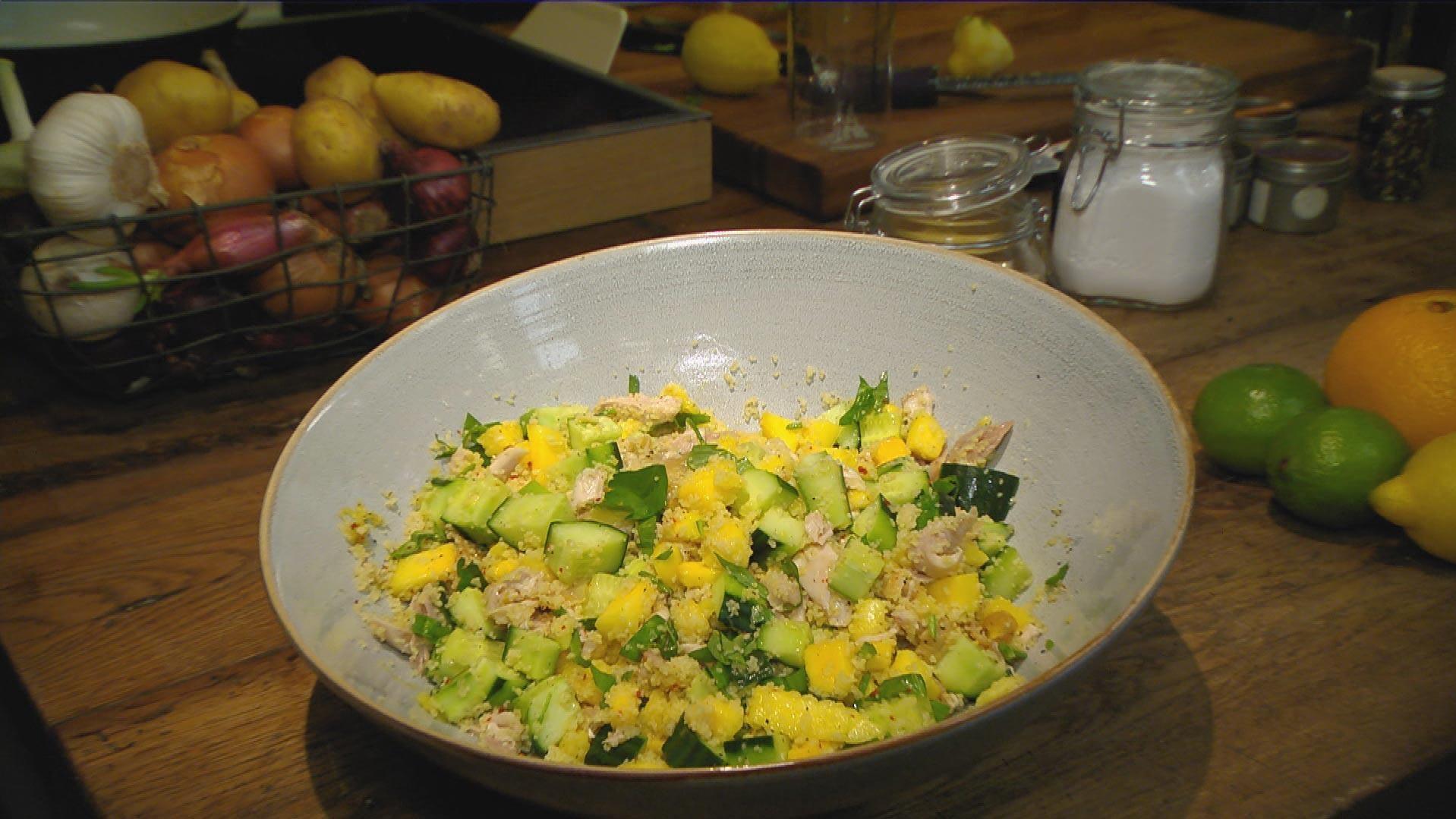 Heute und Morgen – Was vom Tage übrig blieb: Geflügelsalat mit Couscous (Tag 2)