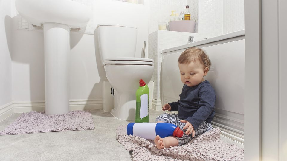 Bathroom dangers for baby