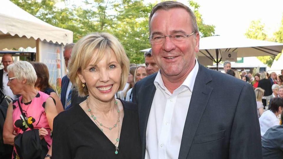 Doris Schröder-Köpf mit Boris Pistorius bei einem Event in Berlin