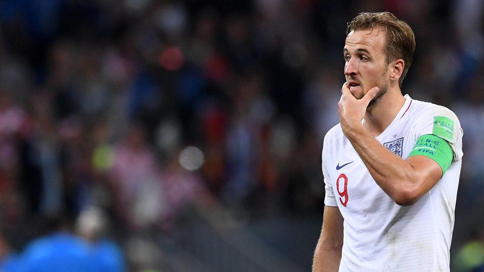 FUSSBALL WM 2018 Halbfinale ------- Kroatien - England 11.07.2018 Harry Kane (England) ist nach dem Abpfiff enttaeuscht *** FIFA World Cup 2018 Semi-finals Croatia England 11 07 2018 Harry Kane England is disappointed after the final whistle PUBLICAT