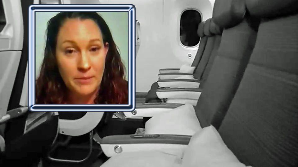 Tiffany Adams wurde nach dem Landen im Flieger vergessen.