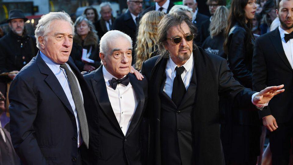Kino-Titanen in London vereint: Al Pacino (rechts), Martin Scorsese und Robert De Niro