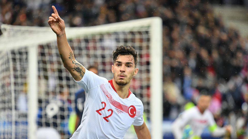 FRANCE TURKEY / EURO 2020 Kaan Ayhan celebrates equalization in the France-Turkey match on 14 October 2019 at the Stade