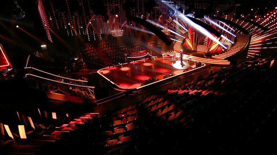 So sieht das Let's Dance-Studio ohne Publikum aus.