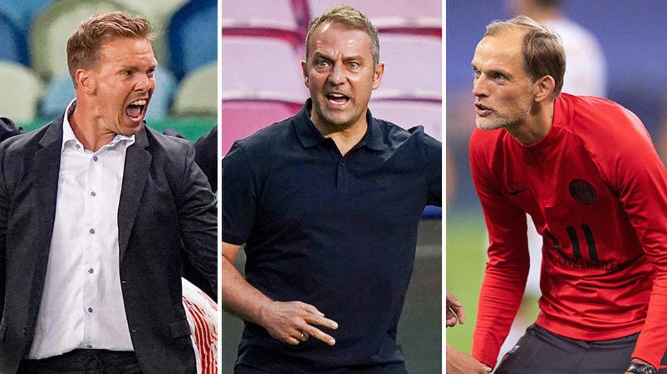 Mit Julian Nagelsmann, Hansi Flick, und Thomas Tuchel stehen drei deutsche Trainer im Halbfinale der Champions League - das ist Rekord