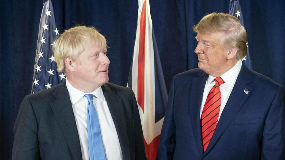 Boris Johnson und Donald Trump im September 2019 in New York