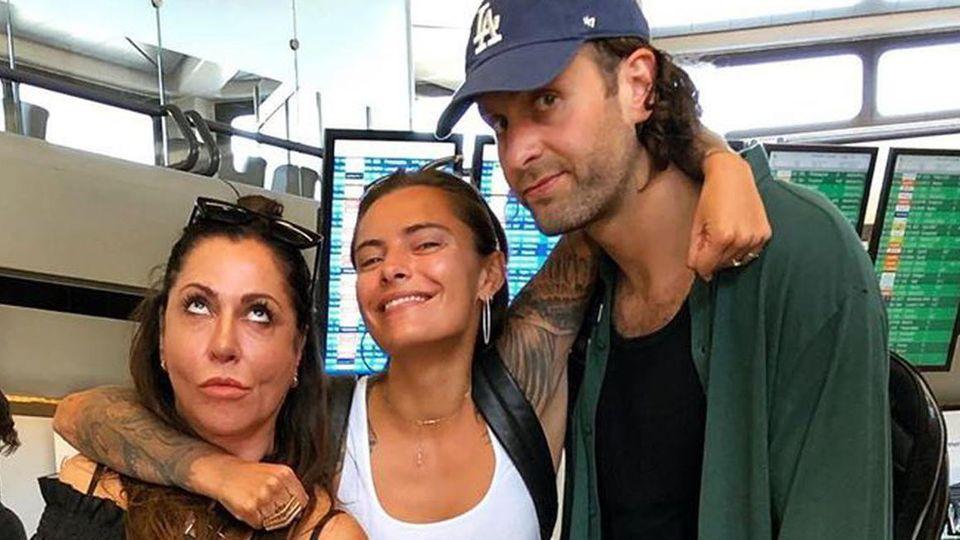 Simone Thomalla mit Tochter Sophia und Freund Silvio Heinevetter