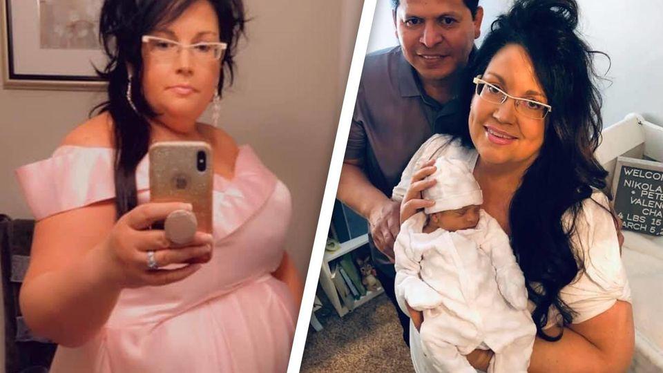 Chantel Chavez wurde mit 49 Jahren zum ersten Mal Mutter.