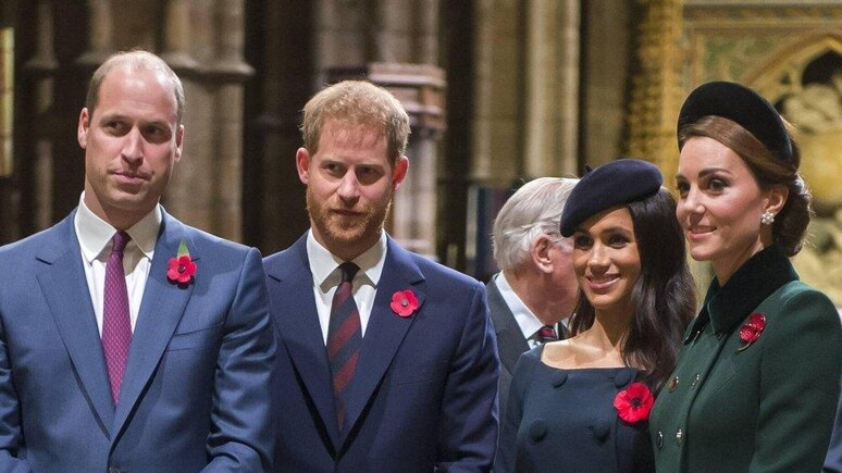Da war noch alles im Reinen: Prinz William, Prinz Harry, Herzogin Meghan und Herzogin Kate im November 2018.