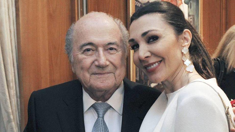 Ex-Fifa-Präsident Sepp Blatter mit Freundin Linda