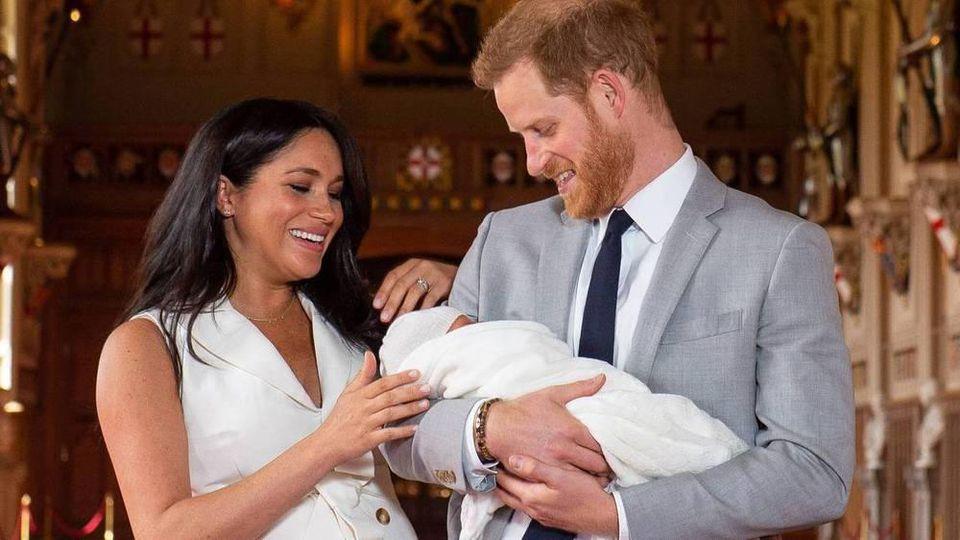 Herzogin Meghan, Prinz Harry und der gemeinsame erste Sohn Archie Harrison