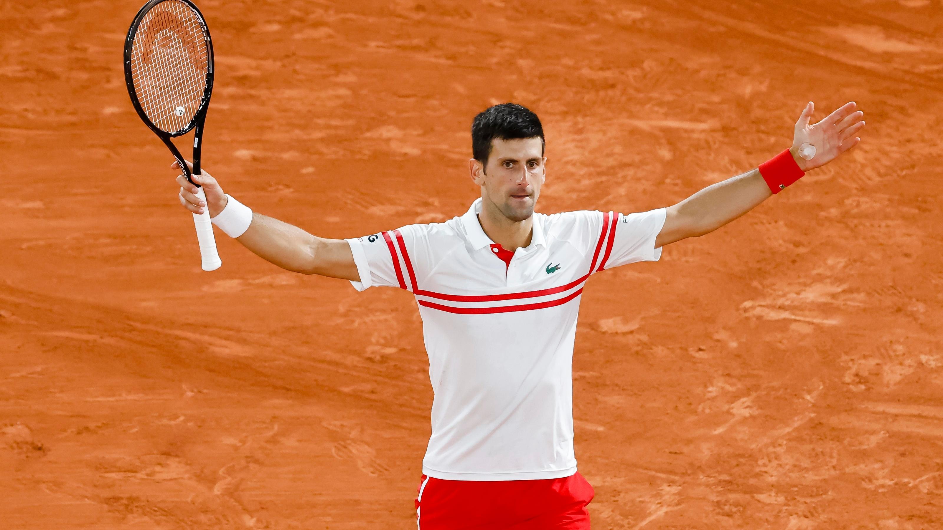 Novak Djokovic steht im Finale der French Open 2021