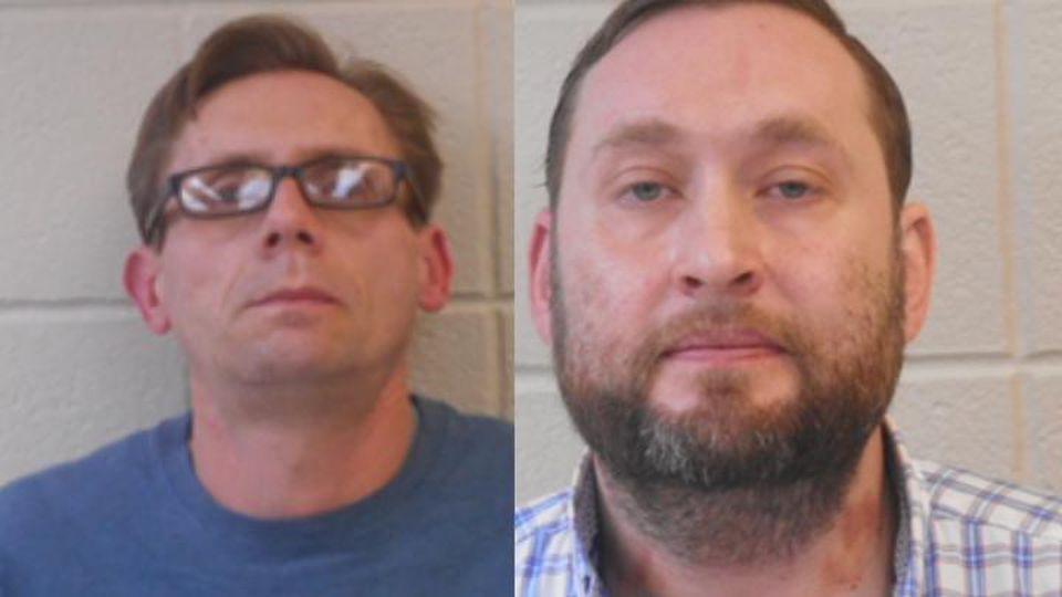 Bateman (links) und Rowland (rechts) sollen das Labor der Uni dazu genutzt haben, um Amphetamine herzustellen.