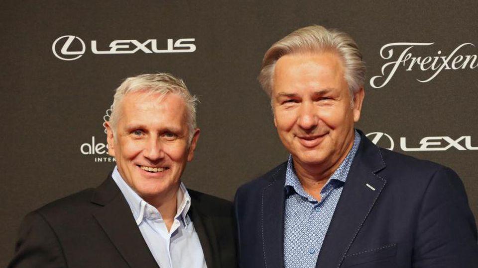 Jörn Kubicki und Klaus Wowereit (l-r). Foto: picture alliance/dpa/Archivbild