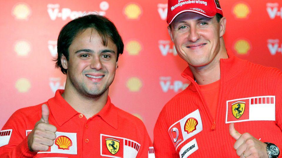 Formel 1 - Schumacher und Massa