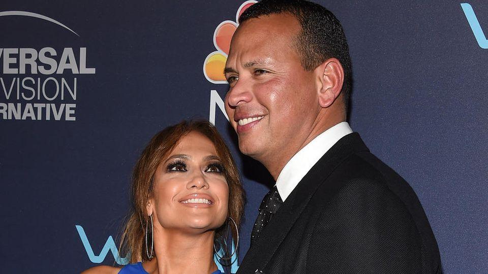 Jennifer Lopez und Alex Rodriguez auf einem Event in Hollywood
