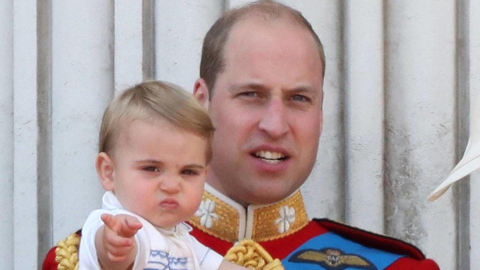 Prinz William und sein jüngstes Kind Louis