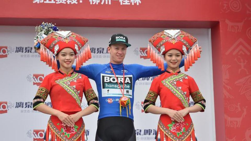 Pascal Ackermann feierte in China seinen zweiten Etappensieg. Foto: Lei Jiaxing/XinHua/dpa