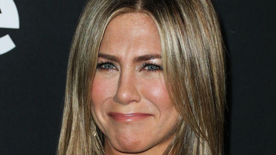 Schauspielerin Jennifer Aniston kann über sich selbst lachen