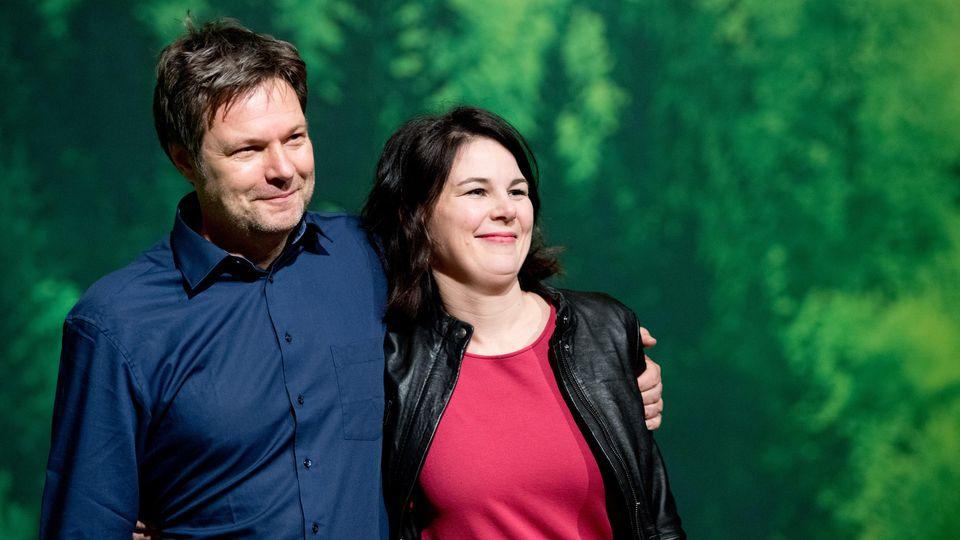 Neue Doppelspitze der Grünen: Robert Habeck und Annalena Barbock