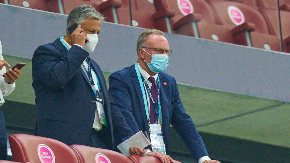 Karl-Heinz Rummenigge in Budapest beim europäischen Supercup