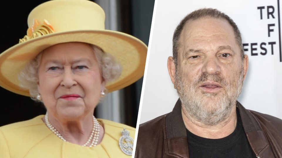 Queen Elizabeth II. erklärt Harvey Weinsteins CBE-Ehrung für nichtig.