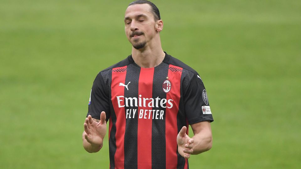 Zlatan Ibrahimovic of Milan during the Serie A football match between AC Milan and FC Internazionale at San Siro Stadiu