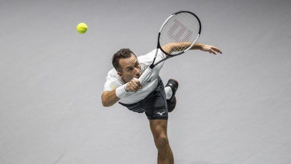 Philipp Kohlschreiber hat sein Einzel gegen Großbritannien verloren. Foto: Bernat Armangue/AP/dpa