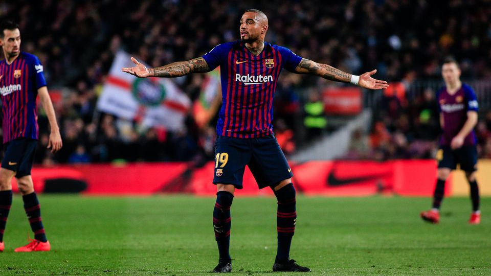 February 16 2019 Barcelona BARCELONA Spain 19 Kevin Prince Boateng of FC Barcelona Barca dur