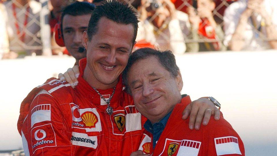 Zwischen Michael Schumacher und Jean Todt passt kein Blatt Papier