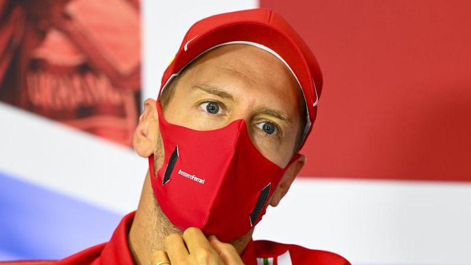 Wird hartnäckig mit einem Cockpit beim Formel-1-Team Racing Point in Verbindung gebracht: Sebastian Vettel. Foto: Mark Sutton/Pool Motorsport Images/AP/dpa