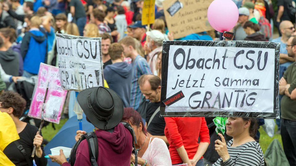 Abschlusskundgebung auf dem Königsplatz