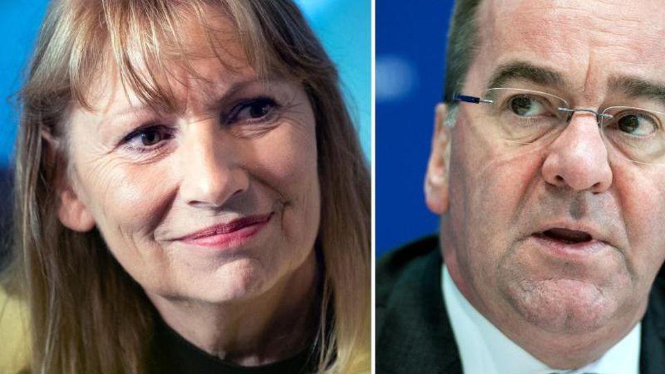 Petra Köpping (l) und Boris Pistorius (beide SPD). Foto: Robert Michael/Archivbild
