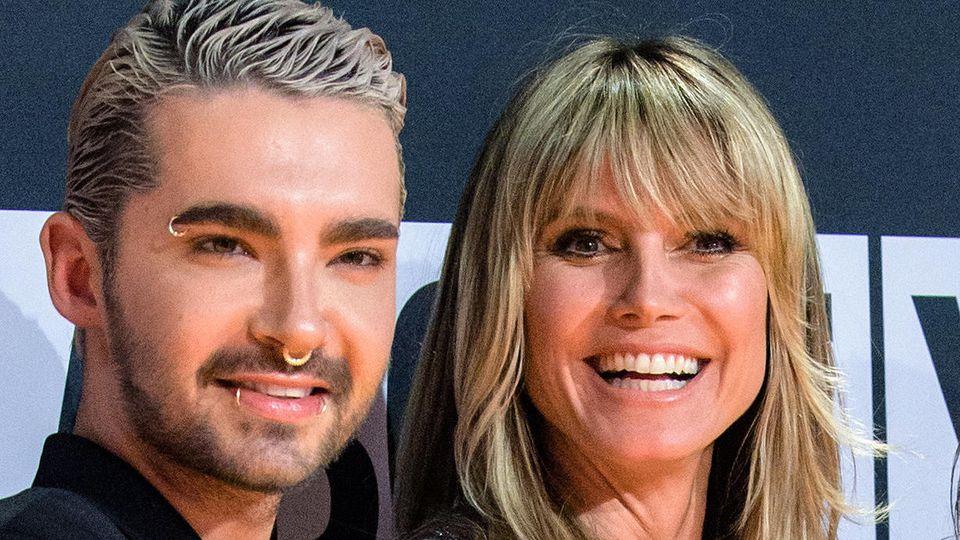 Sänger Bill Kauliz und Model Heidi Klum sind gemeinsam in der Show