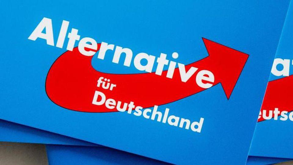 Blick auf das Logo der AfD. Foto: Markus Scholz/dpa/Symbolbild