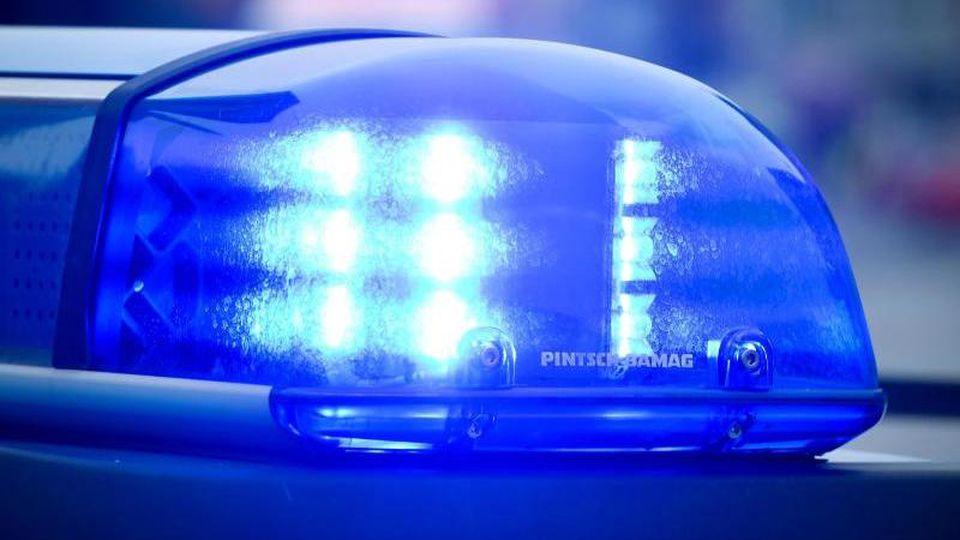 Das Blaulicht an einem Polizeiauto. Foto: Patrick Pleul/Archivbild